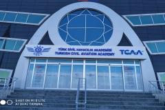 Sivil Havacılık Akademisi Pleksi Kutu Harf Tabela