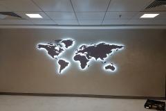 Thy Genel Müdürlük Işıklı Dünya Haritası