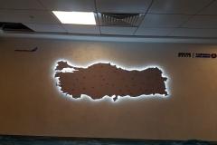Thy Genel Müdürlük Işıklı Türkiye Haritası